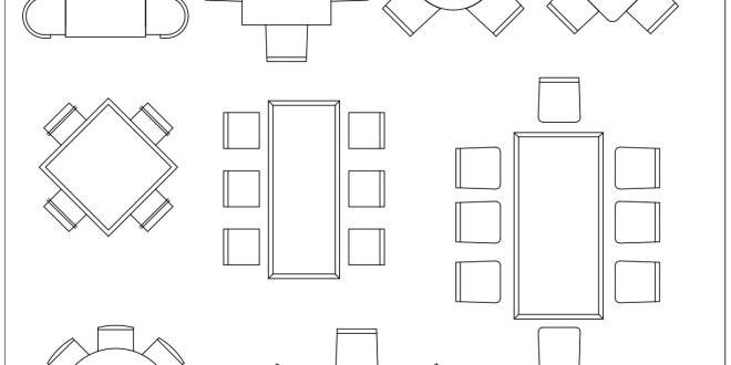 Free CAD Blocks Dining Tables