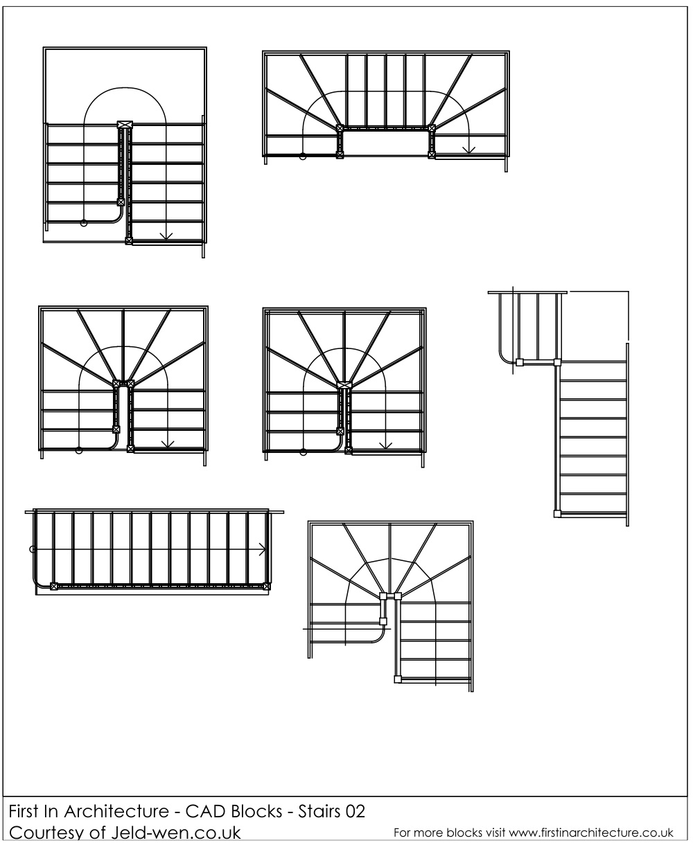 Free CAD Blocks - Stairs