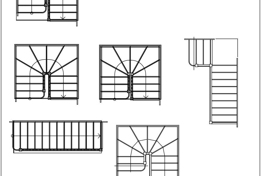 Free CAD Blocks – Stairs 02