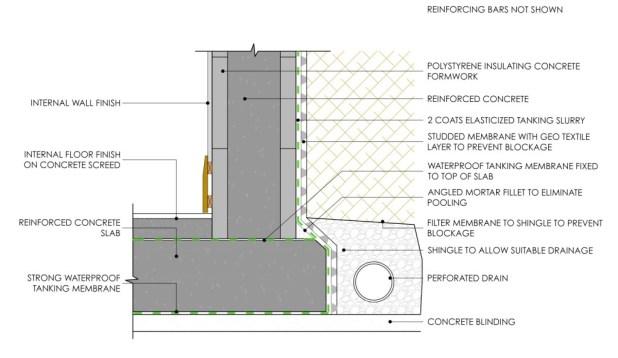 03 Wall form concrete no protection