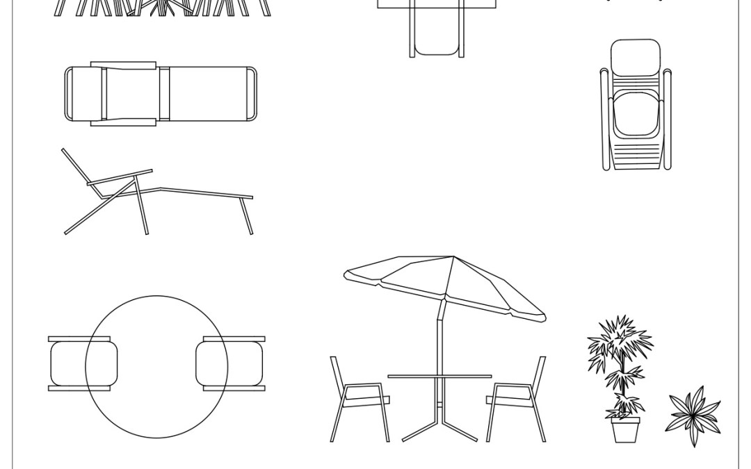 Free CAD Blocks – Outdoor Furniture 02