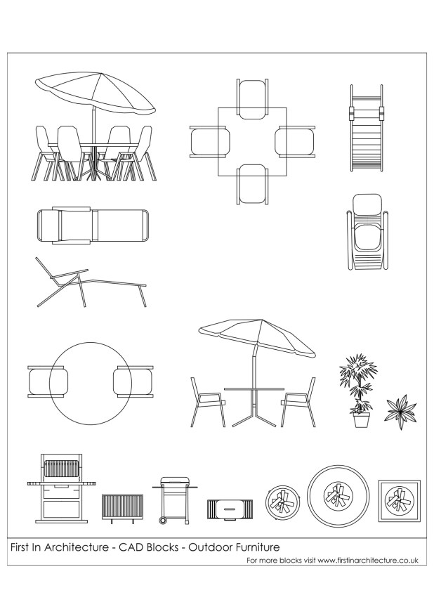 FIA CAD Blocks outdoor Furniture