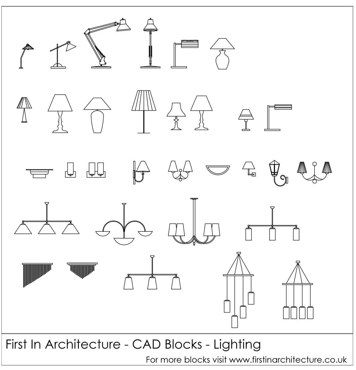 Lighting Cad Blocks  sc 1 st  First In Architecture & Free CAD Blocks - Lighting