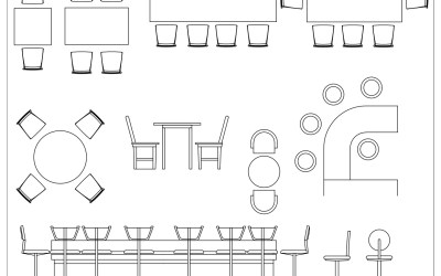 Free CAD Blocks – Restaurant and bar