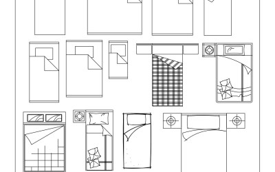 Free CAD Blocks – Beds and Wardrobes