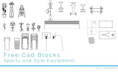 Free CAD Blocks – Sport and Gym Equipment