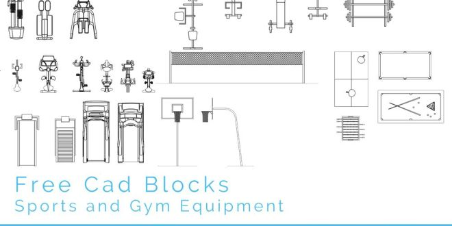 Free Cad Blocks Sport And Gym First In Architecture
