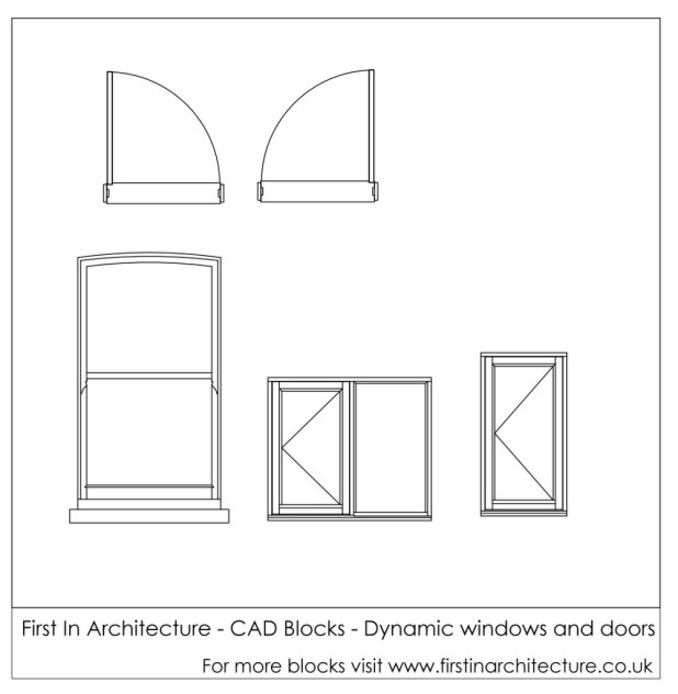 FIA CAD Blocks Dynamic windows and doors