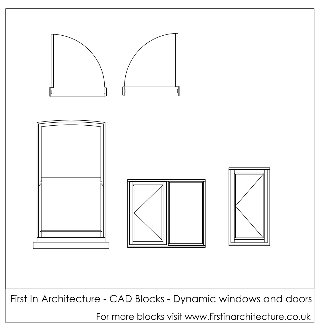 Free Cad Blocks Dynamic Window And Doors