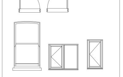 Free CAD Blocks – Dynamic windows and doors