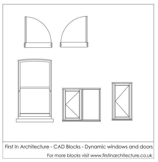 FIA CAD Blocks Dynamic windows and doors