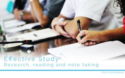 Effective Study – Research, reading, note taking