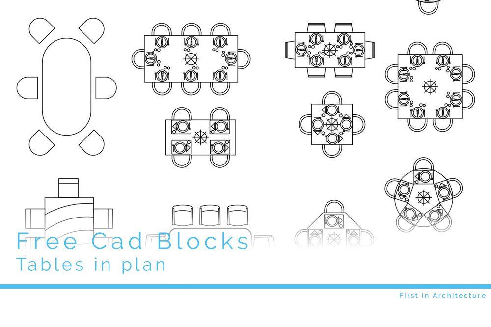 Free CAD Blocks – Furniture 07 Tables