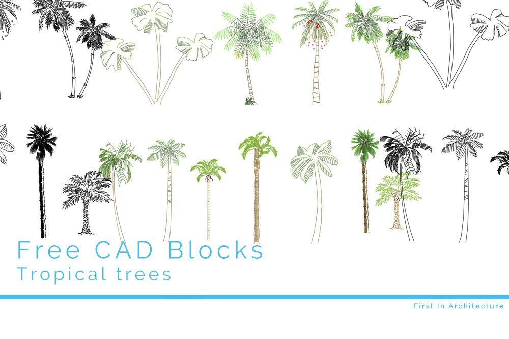 Free CAD Blocks – Trees 08