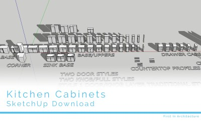 SketchUp Kitchen Cabinet Download