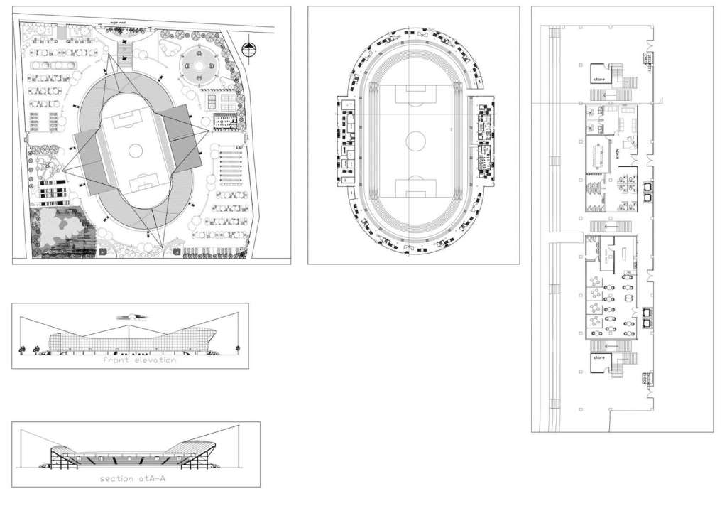 Stadium plan - scale example