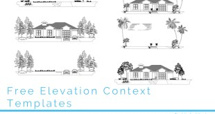 Elevation template cad