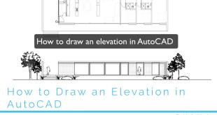 How to draw an elevation in cad
