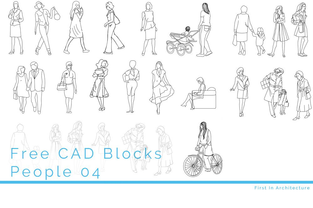 Free CAD Blocks – People 04