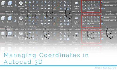 Managing coordinates in AutoCAD 3D