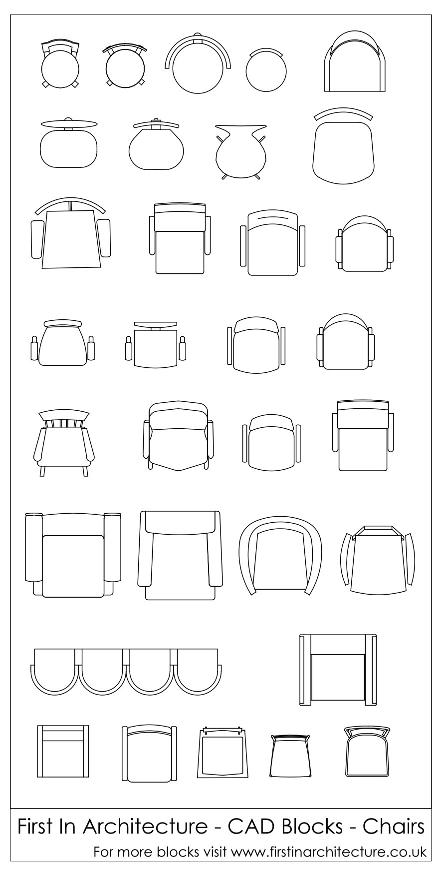 Free Cad Blocks Chairs In Plan