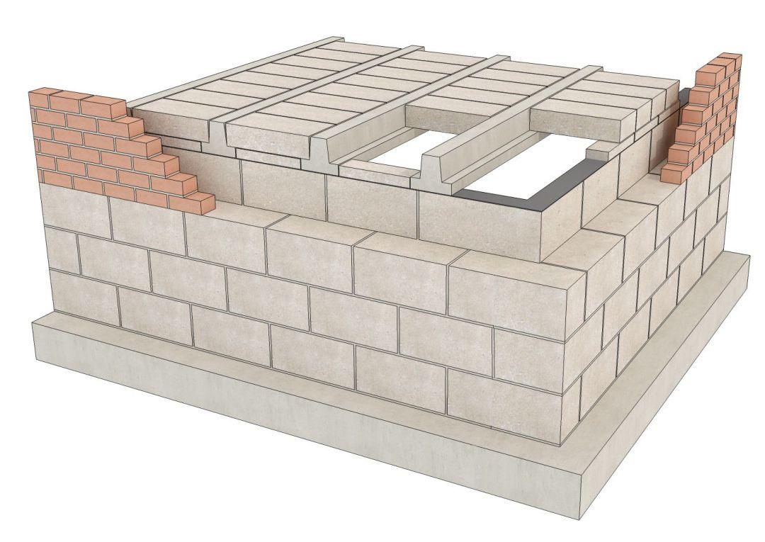 beam and block layout