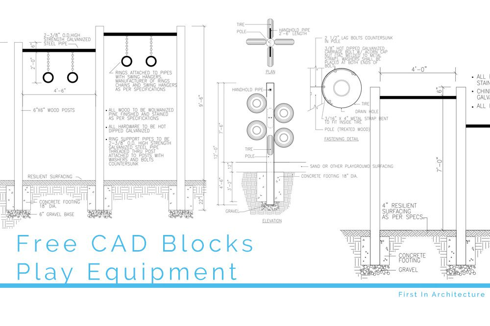 Free CAD Blocks – Play Equipment