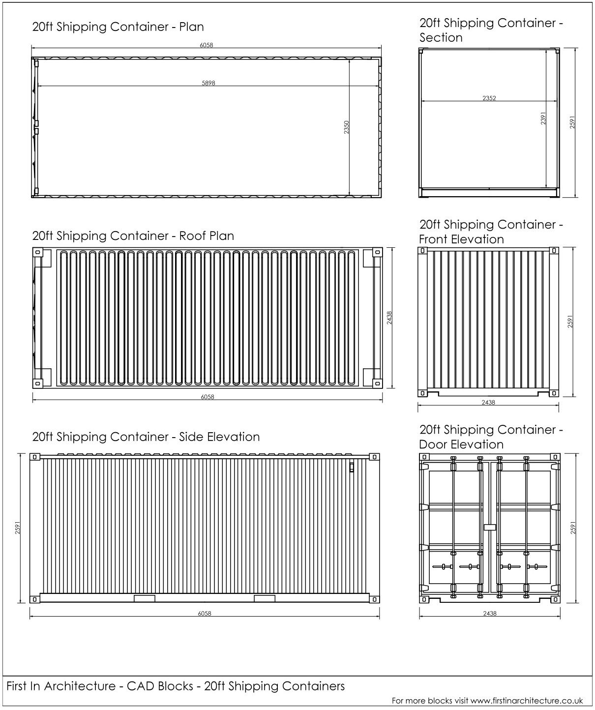Best Kitchen Gallery: Free Cad Blocks Shipping Containers of Shipping Container Cad Drawing on rachelxblog.com