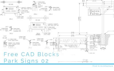 Free CAD Blocks – Park Signs 02