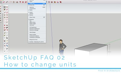 SketchUp FAQ 02:  How to change units in SketchUp