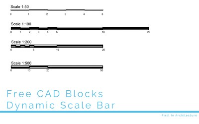FIA Free CAD Block – Dynamic Scale Bar