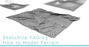How to model terrain in sketchup