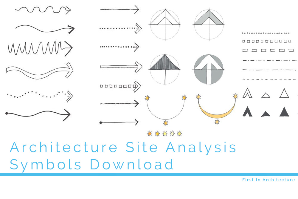 Site Analysis Symbols Download First In Architecture