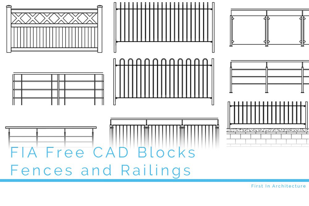 Free CAD Blocks – Fences and Railings