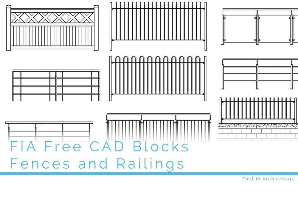 Free CAD Blocks – Fences and Railings