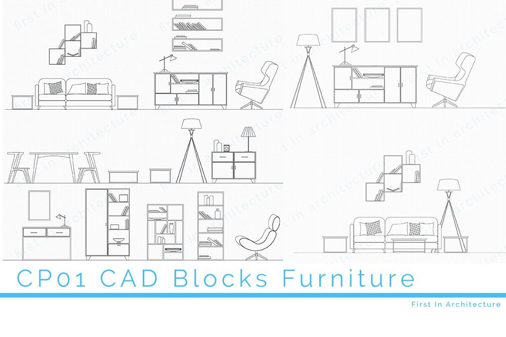 CP04 Dining Room Furniture CAD Blocks - First In Architecture