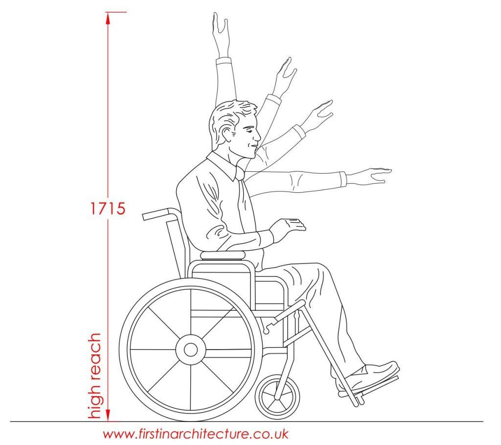 01 average high reach man in wheelchair