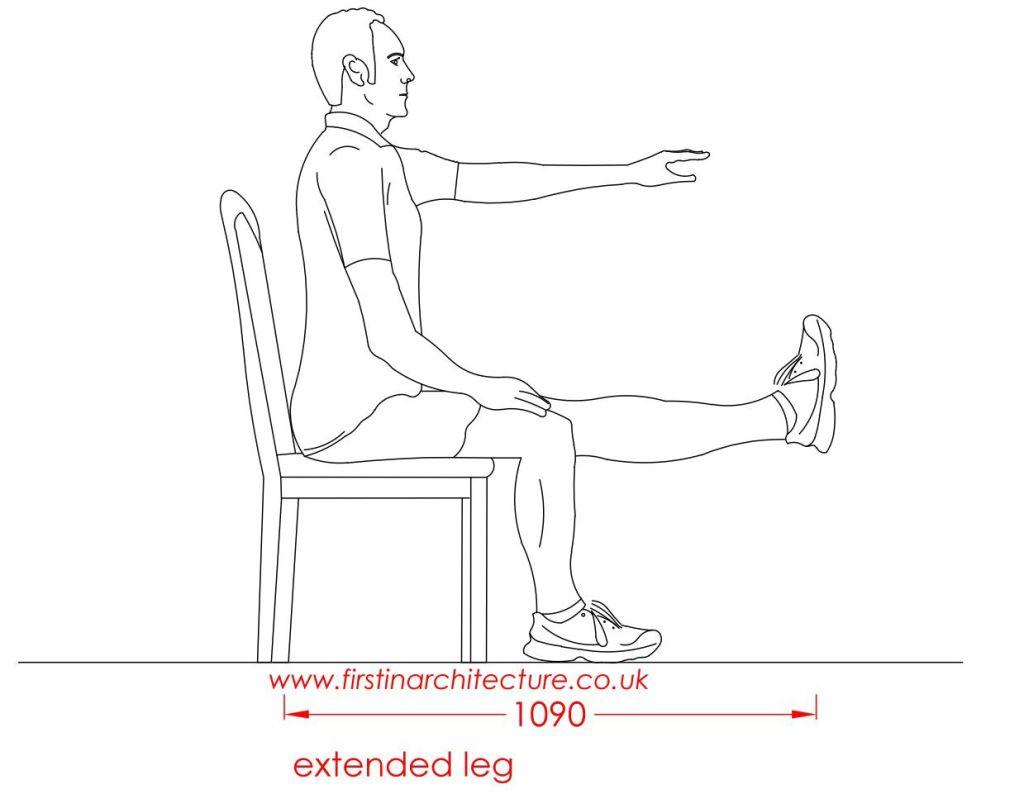 19 Extended leg man sitting