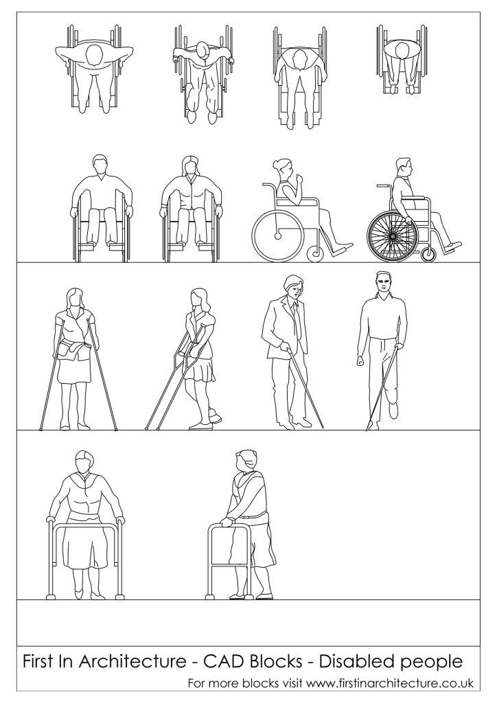 FIA CAD Blocks Disabled People