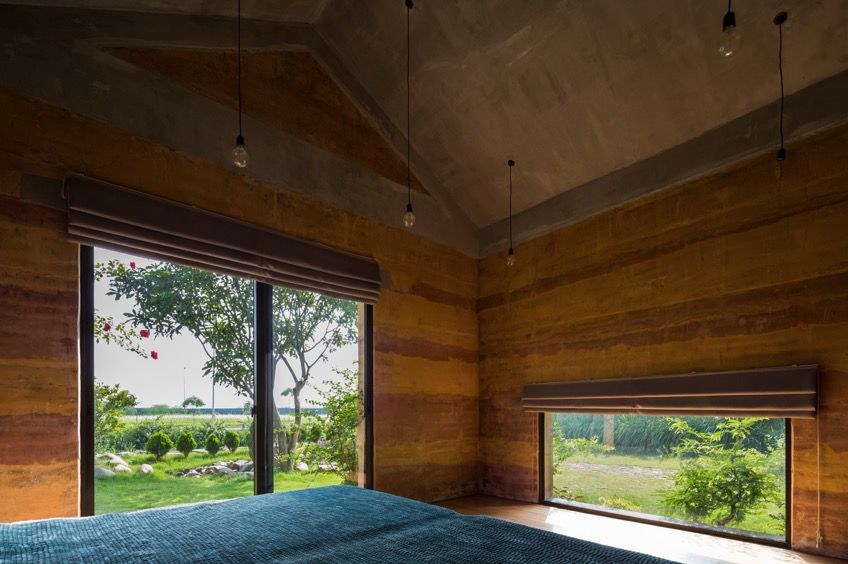 Vo Trong Nghia Architects Hanoi rammed earth house 2