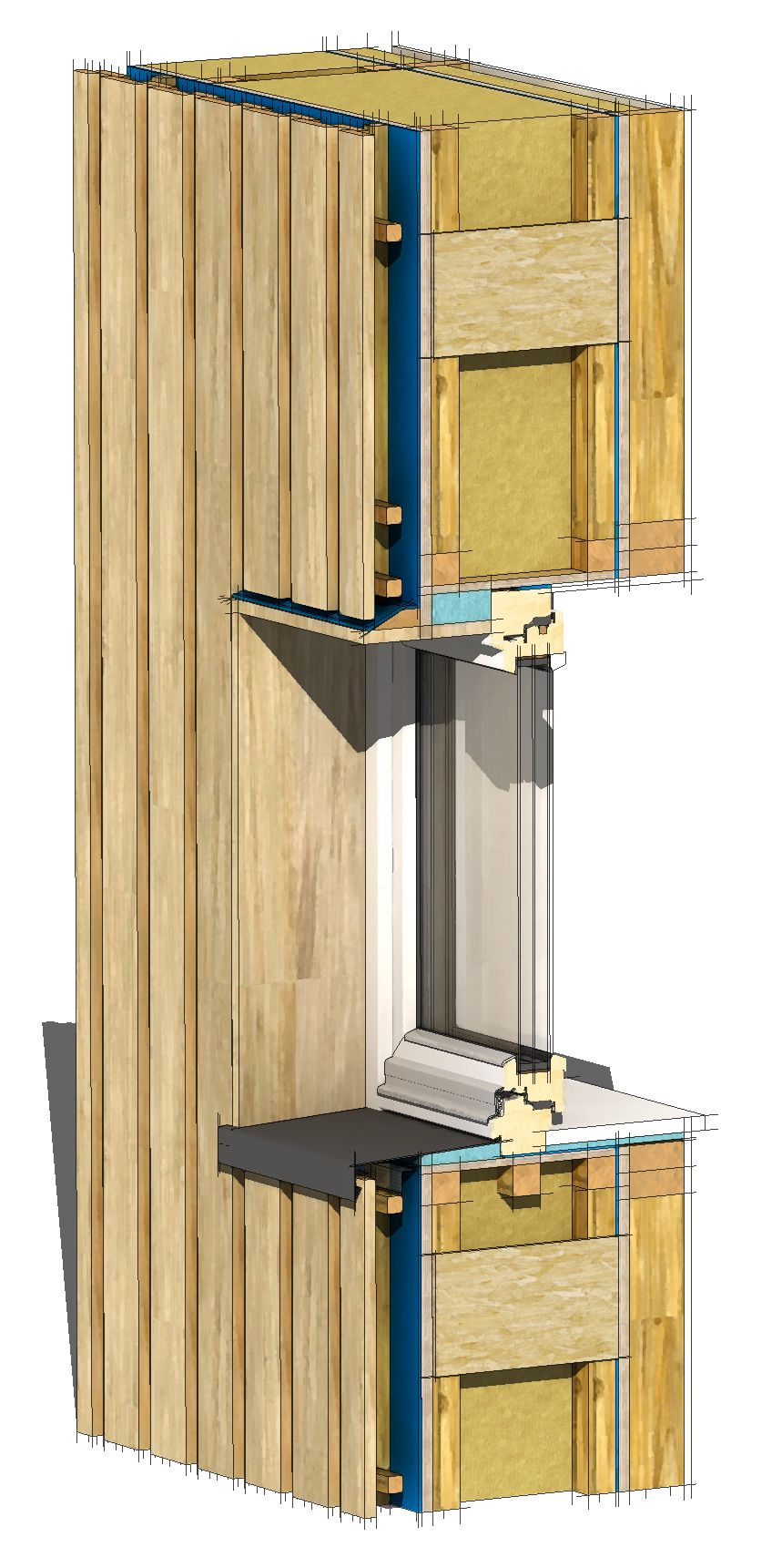 What is a passivhaus? wall detail