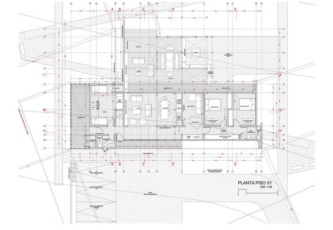 Construction drawing floor plan