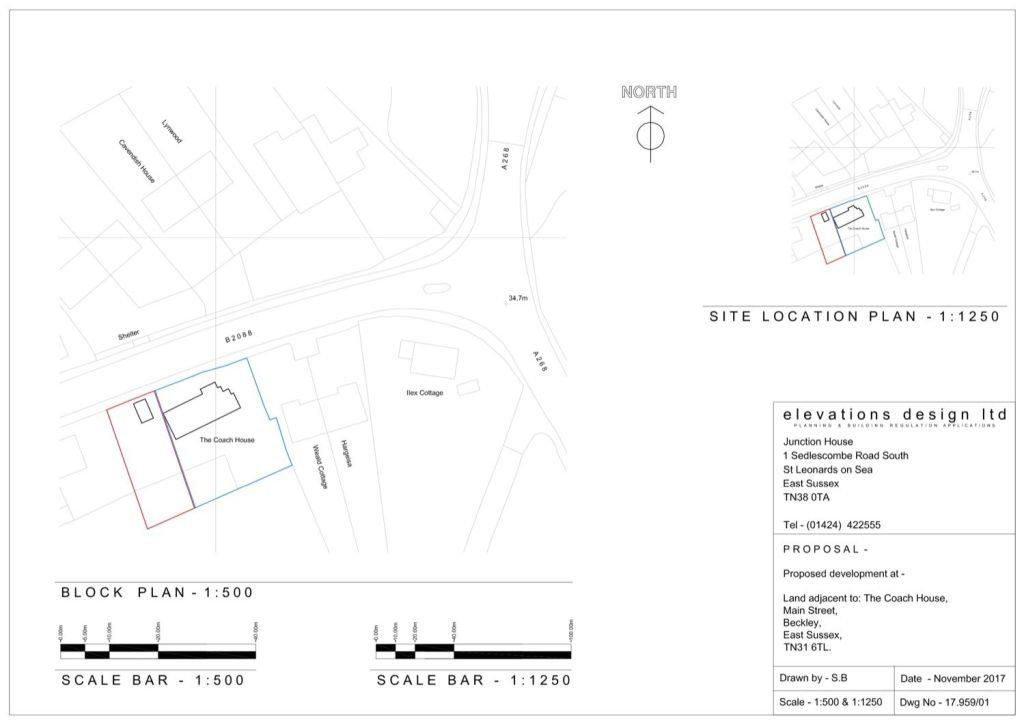 Site Location plan and block plan example 03