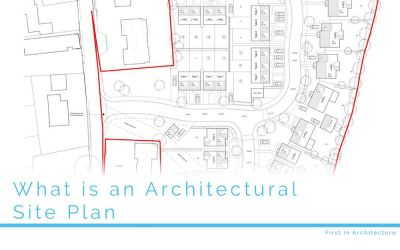 What is an architectural site plan?