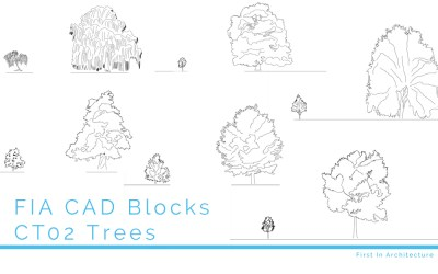 CAD Blocks Trees CT02