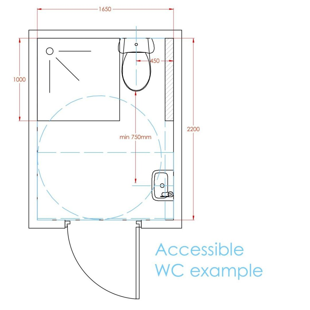 Accessible WC example