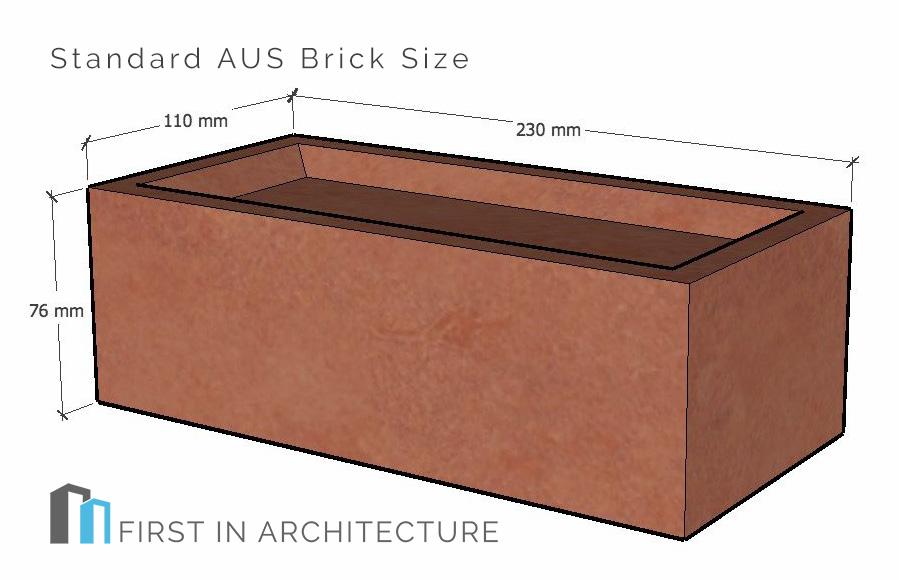 Standard AUS Brick Size
