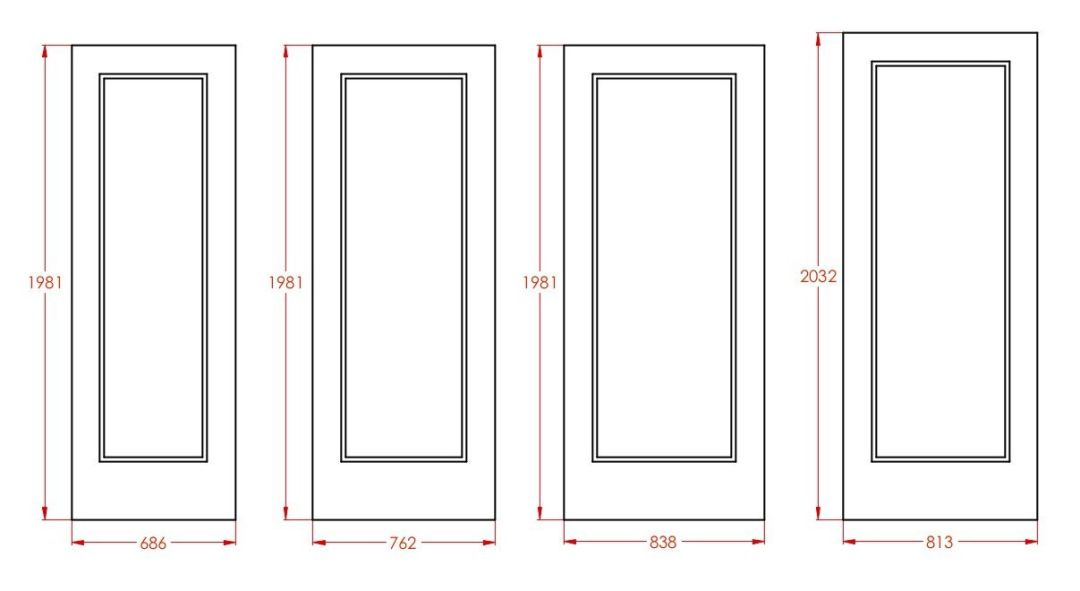 Standard door sizes int ele imp