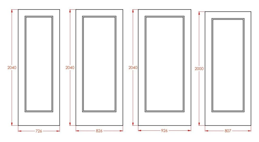 Standard door sizes int metric ele
