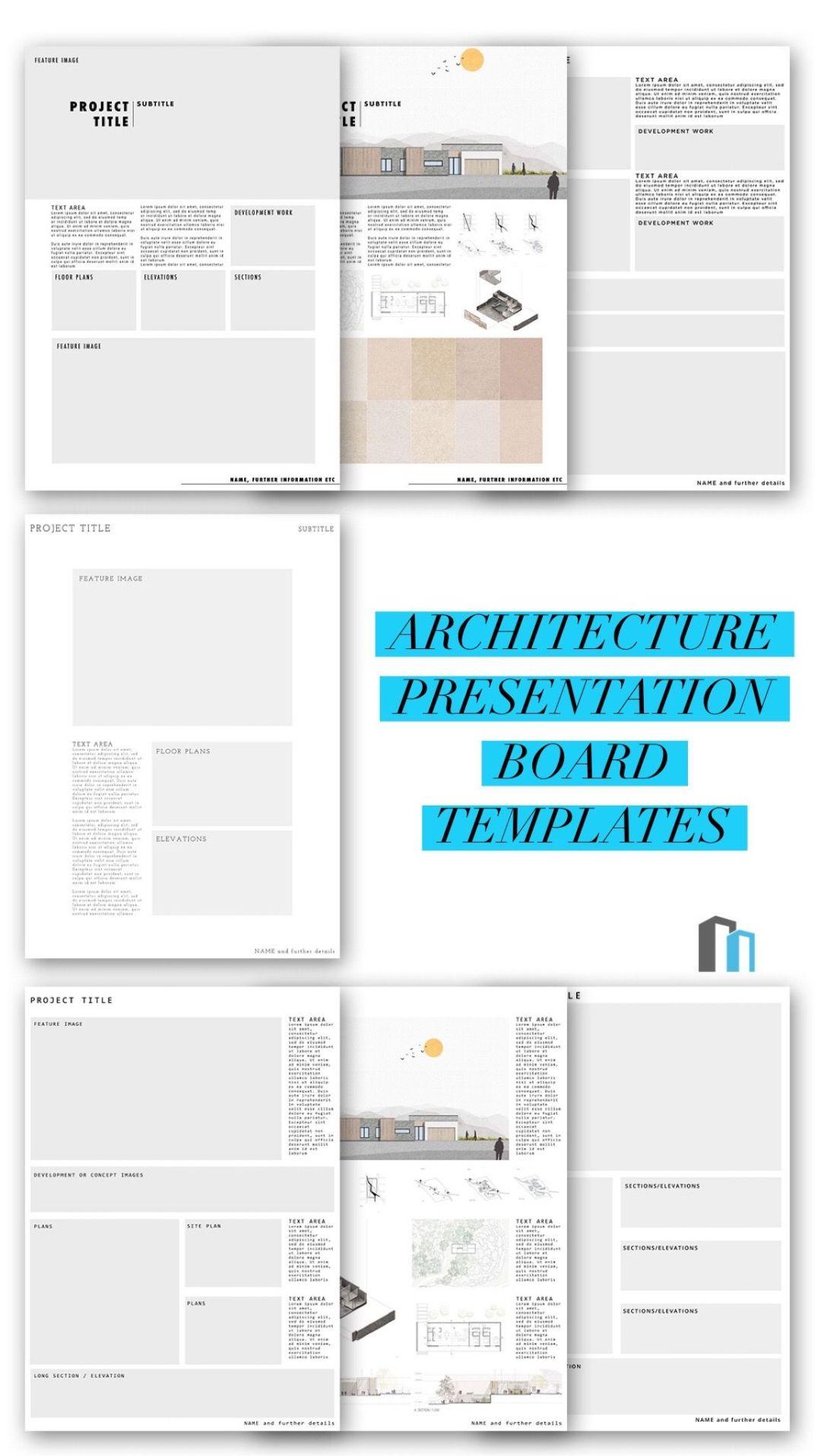 Architecture Presentation Board Templates 2